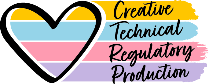 production, creative, technical and regulation cycle graphic