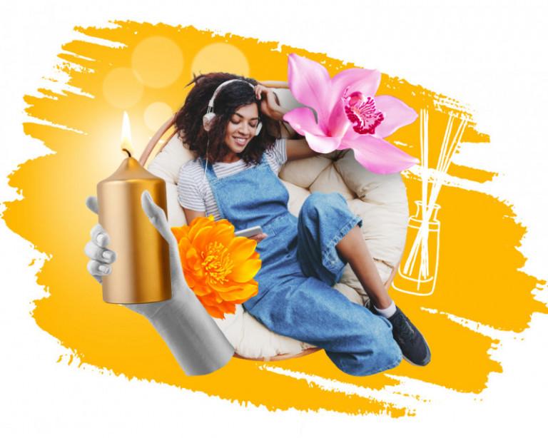 orange home fragrance woman