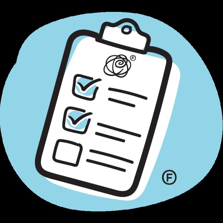 checklist on clipboard graphic